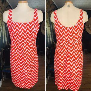Original Milly of NY Sleeveless Chevron Print Dres